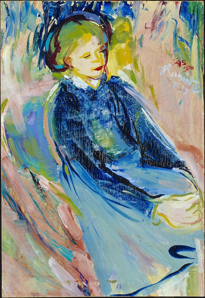 Dame sitzend (à la Cézanne)